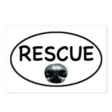 Rescue nose oval-white Postcards (Package of 8)