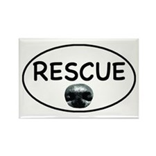 Rescue nose oval-white Rectangle Magnet