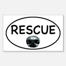 Rescue nose oval-white Decal