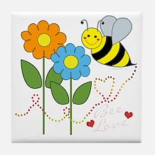 beeflowersbeeloveDARK Tile Coaster