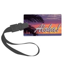 Aloha-GermainesSunset_14x10 Luggage Tag
