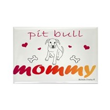 PitBullWtMommy Rectangle Magnet