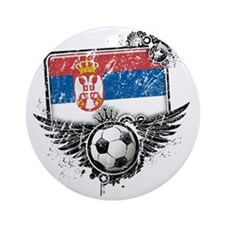 Soccer fan Serbia Round Ornament