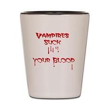 funny vampire Shot Glass