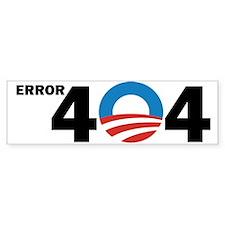 Error404 Bumper Bumper Sticker