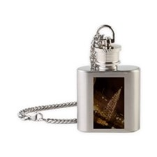 Christmas in Trafalgar Square Flask Necklace