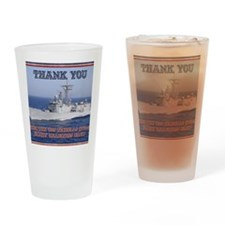 thank you card copy Drinking Glass