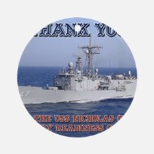 thank you card copy Round Ornament