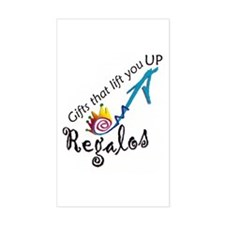 """""""Regalos"""" the gift Rectangle Decal"""