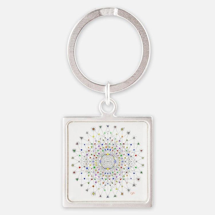 2-E82 Square Keychain