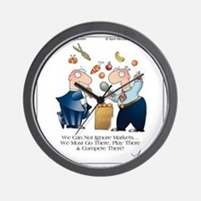 MARKET PLAY by April McCallum Wall Clock