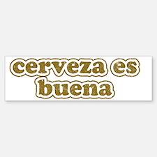 cerveza Sticker (Bumper)