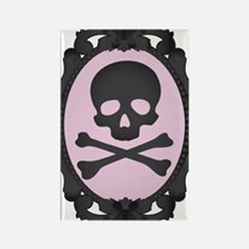 Skull and Crossbones Cameo Rectangle Magnet
