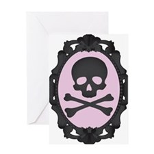 Skull and Crossbones Cameo Greeting Card