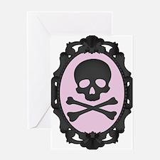 Skull and Crossbones Cameo Greeting Card