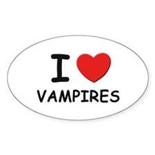 I love vampires Oval Decal