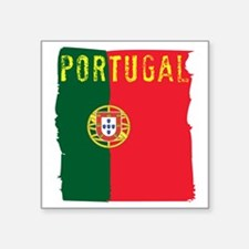 "portugal flag Square Sticker 3"" x 3"""