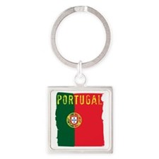 portugal flag Square Keychain