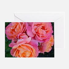 Delicate Pink Orange Rose Cluster Ny Greeting Card