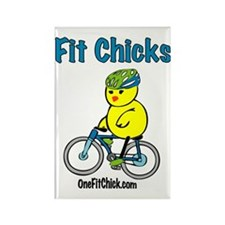 fitchick_comic_t-shirt_biker Rectangle Magnet