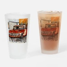 old pickup truck antique automobile Drinking Glass