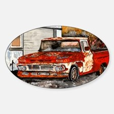 old pickup truck antique automobile Sticker (Oval)