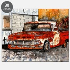 old pickup truck antique automobile Puzzle