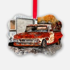 old pickup truck antique automobi Ornament