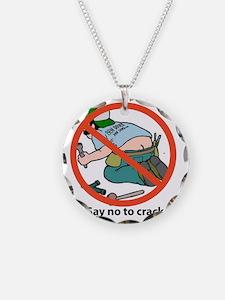 NO CRACK Necklace Circle Charm
