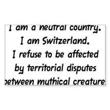 I Am a Neutral Country Decal