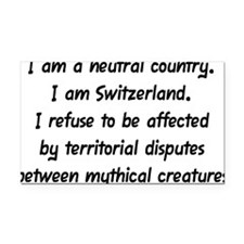 I Am a Neutral Country Rectangle Car Magnet
