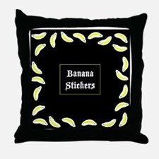 BananaStickersBox Throw Pillow