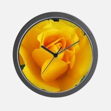 Yellow Rose Full Bloom A Wall Clock