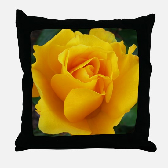 Yellow Rose Full Bloom A Throw Pillow