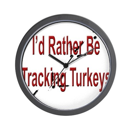 Rather be Tracking Turkeys Wall Clock