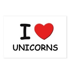 I love unicorns Postcards (Package of 8)