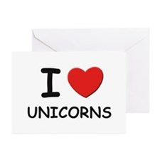 I love unicorns Greeting Cards (Pk of 10)