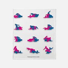 Bunny_ vector_16 Throw Blanket