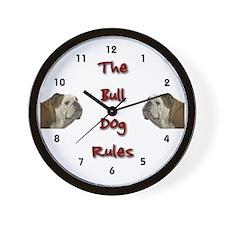 bulldog gifts Wall Clock