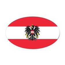 Austria Oval Car Magnet