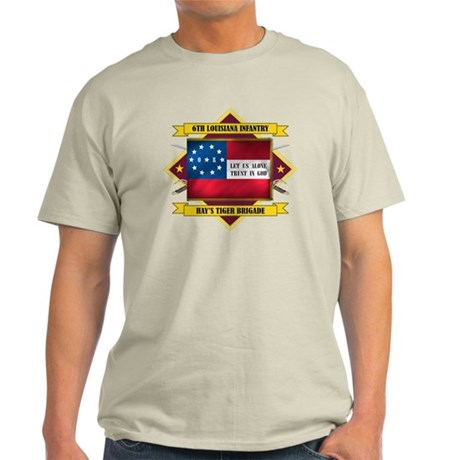 6th Louisiana Inf (Flag 5.1) Light T-Shirt