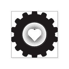 """Gear Heart Square Sticker 3"""" x 3"""""""