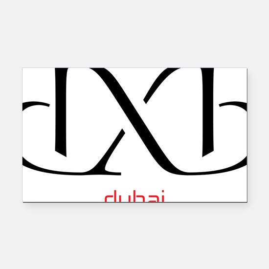 dxb Rectangle Car Magnet