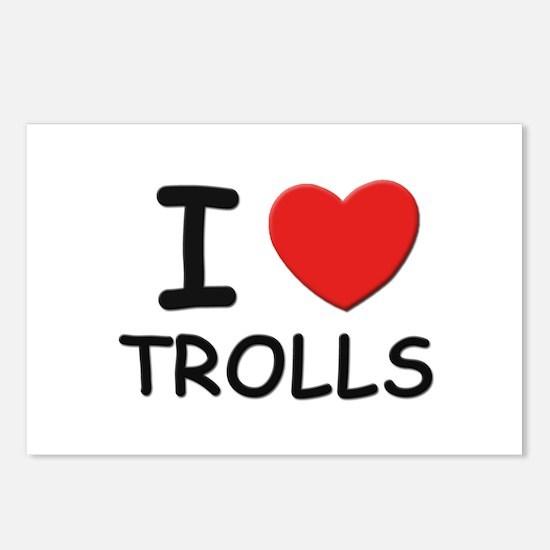 I love trolls Postcards (Package of 8)