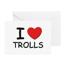 I love trolls Greeting Cards (Pk of 10)