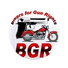 """Bikers for Gun Rights 3.5"""" Button"""