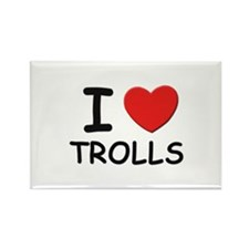 I love trolls Rectangle Magnet