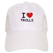 I love trolls Baseball Cap