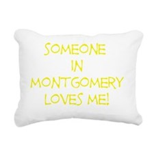 SomeoneInMontgomeryYello Rectangular Canvas Pillow