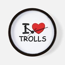 I love trolls Wall Clock